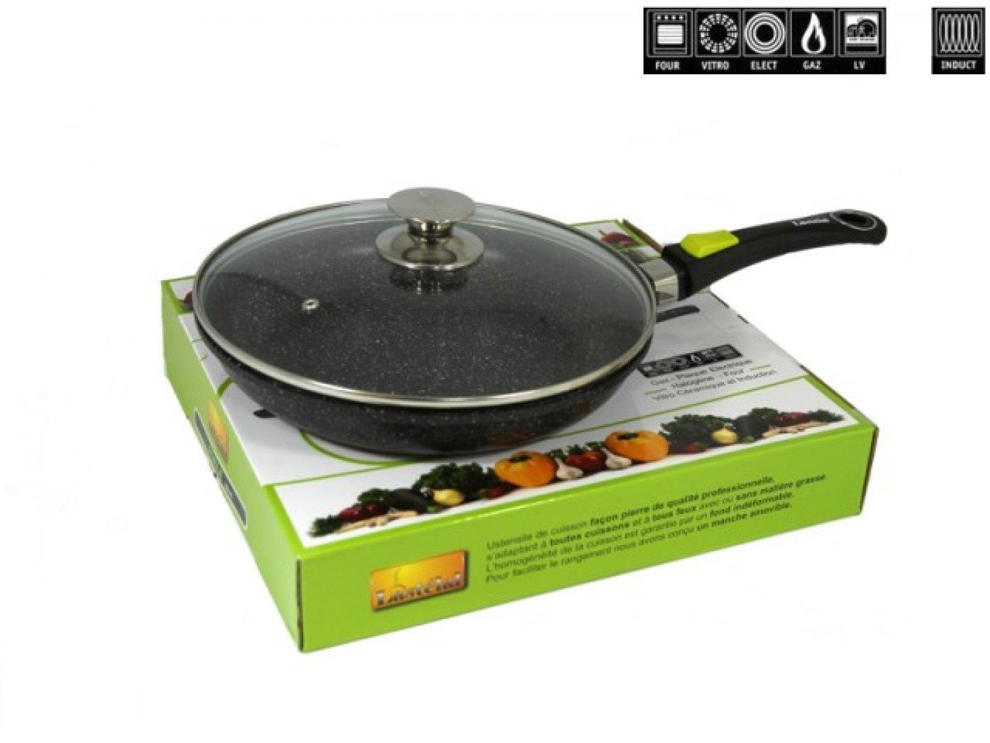 Poele pierre lastelal table de cuisine - Batterie de cuisine en pierre pas cher ...